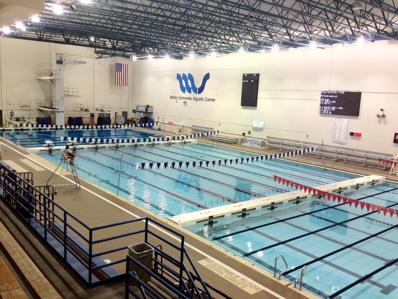 Men's Swimming & Diving Team Fourth After Day Two